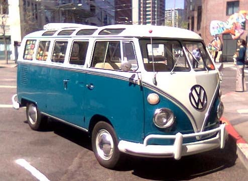 21-Window Volkswagen Transporter Braves Downtown San Francisco