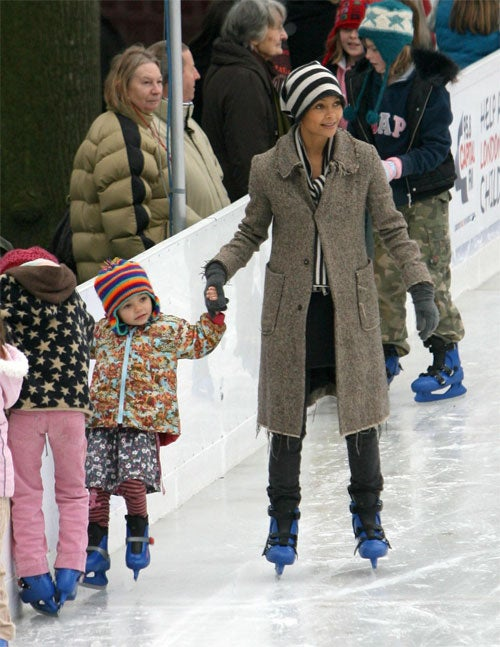 Thandie Newton & Child: Ice Capades