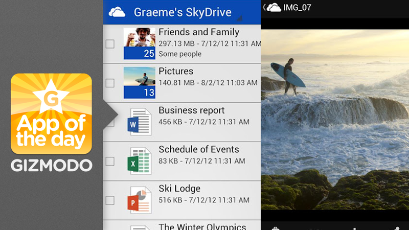 SkyDrive for Android: Squirrel Your Stuff Away on Your Phone