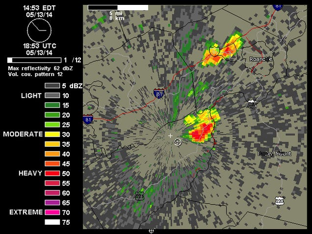 GIF: Watch a Thunderstorm Collapse on 3D Radar