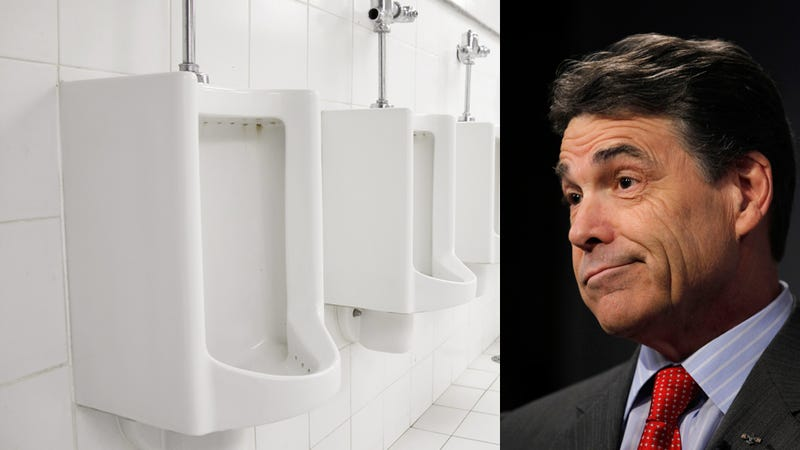 Is Rick Perry a Creepy Pee-er, or Just High on Pills?