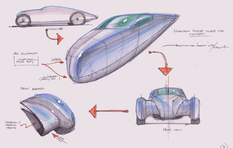 Icon Wants To Use A Tesla To Create This Gorgeous, One-Off Streamliner