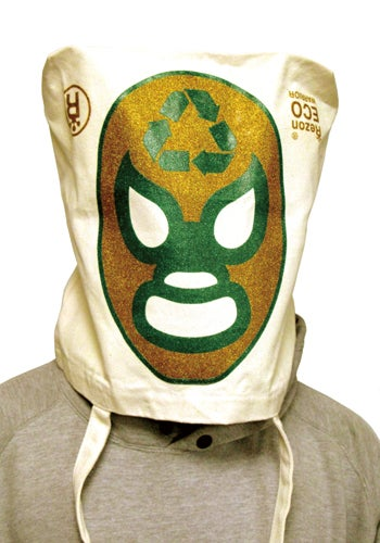 Eco Warrior Bag Turns Into a Mexican Wrestler Mask When Empty