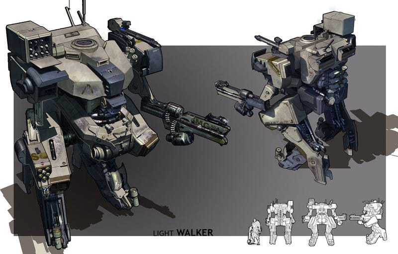 The Kickass Mechs, Guns and Soldiers of a...Gameloft artist?