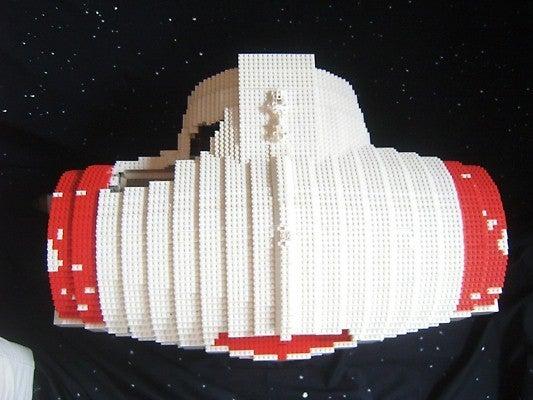 Crazy Guy Making Huge Minifig Scale Lego Corellian Corvette
