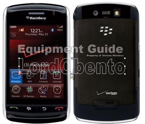 The Verizon BlackBerry Storm Hopes You Like Red