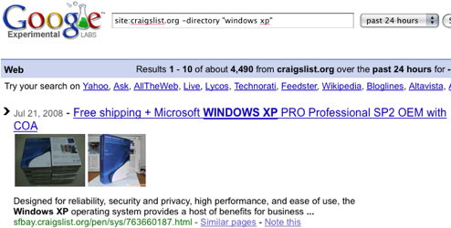 Search All Craigslist Sites at Once with Google