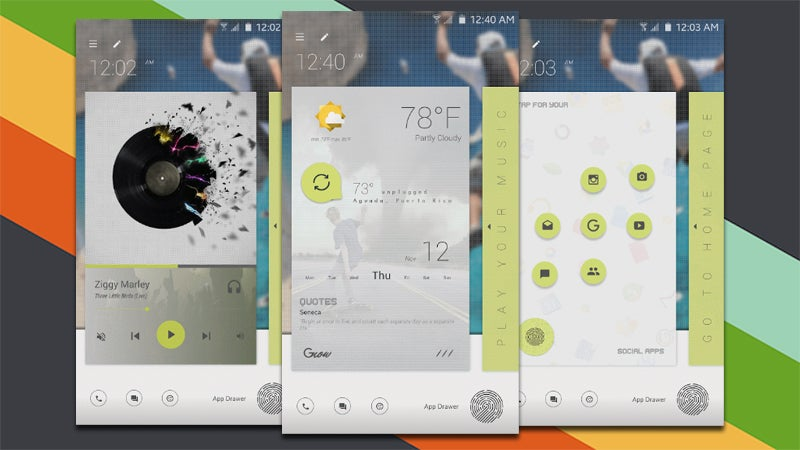 The Light Cards Home Screen