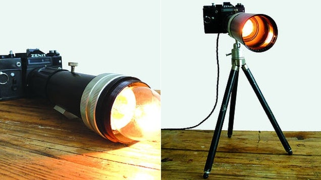 Severe Cold War Cameras Make Funky Modern Lamps