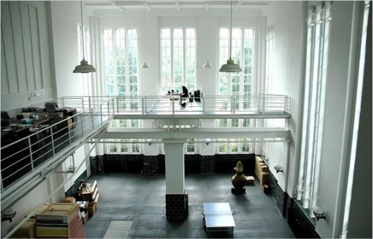 From Closed-Down Water Pumping Station To Elegant Home