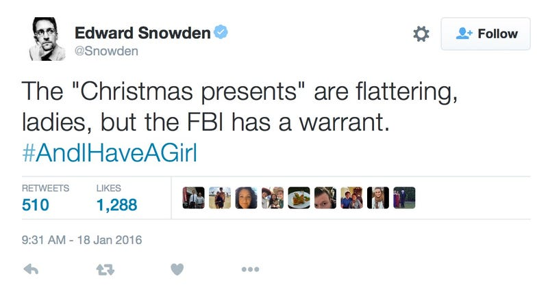 Why Did Edward Snowden Delete His Humblebrag About Getting Nudes?