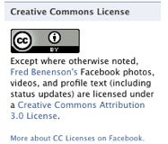 Creative Commons Facebook App Licenses Your Facebook Content