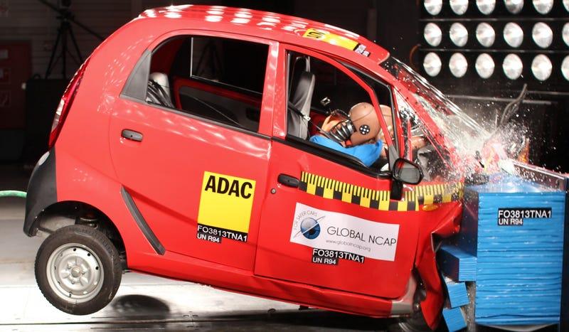 The Tata Nano Is Appallingly Horrific In A Head On Crash