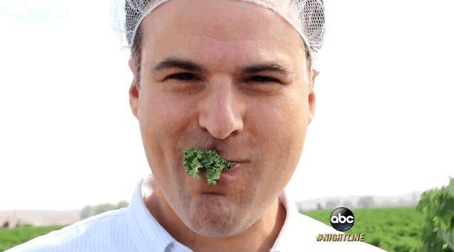 Here's Darren Rovell Munching On Kale
