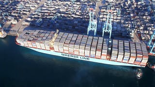The World's Biggest Cargo Ship Carrying Over 17,000 Crates, NBD