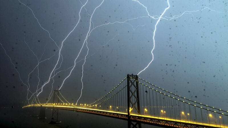The Bay Bridge gets a nice preview of the apocalypse