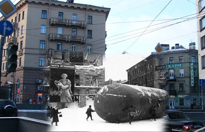 The Nazi's Terrifying Siege of Leningrad Mashed Up With the Actual City