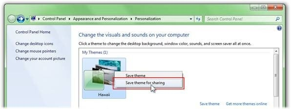 Create and Share Custom Themes in Windows 7
