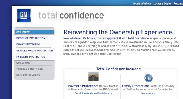 """GM """"Total Confidence"""" Now Has A Working, Finely-Tuned Website"""