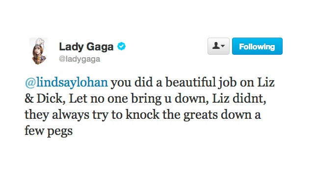 Lady Gaga Was Way Into Liz & Dick