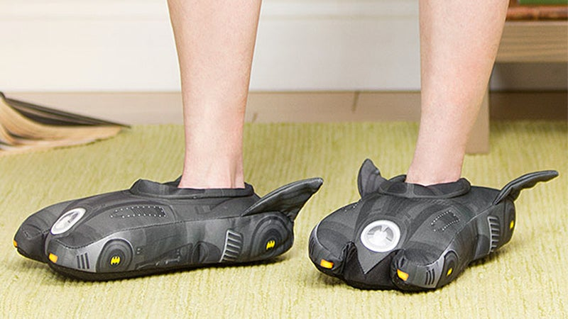 Batmobile Slippers Make Those Dark Nights a Little Comfier