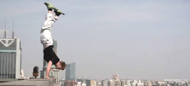 Doing a handstand on the edge of a 40-story building is just nuts