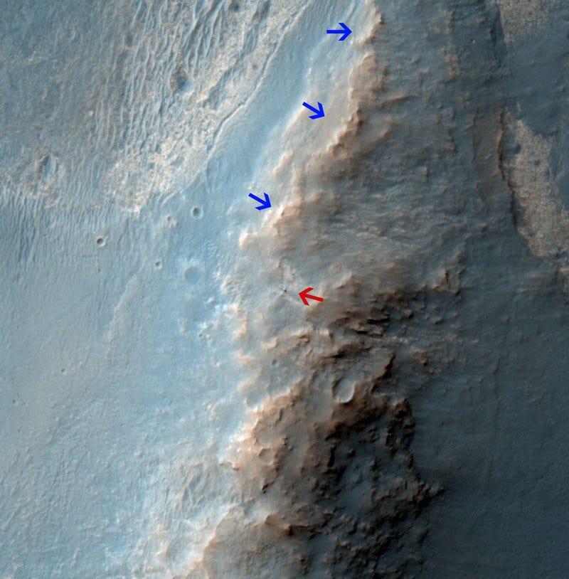 Daaaaamn: NASA's Opportunity Rover Photographed from Mars Orbit