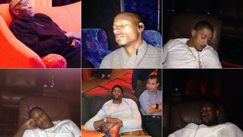 Heat Players Sleeping After Thanksgiving Dinner
