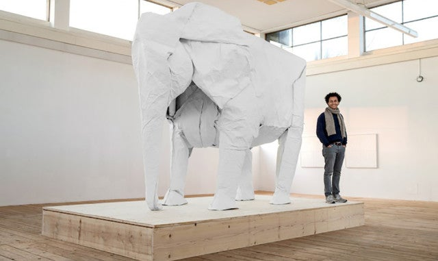 Origami Master Makes a Life-Size Elephant From a Single Sheet of Paper