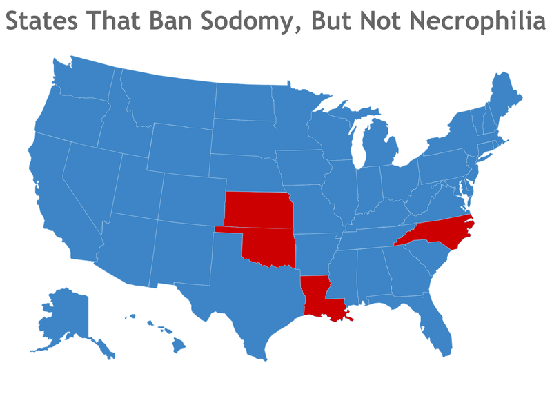 Here Are the States Where Blowjobs Are Illegal But Necrophilia's Cool