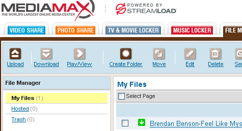 Get 25GB of free online storage at Streamload MediaMax