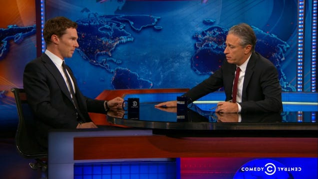 Jon Stewart Also Wants to Rip Benedict Cumberbatch's Clothes Off