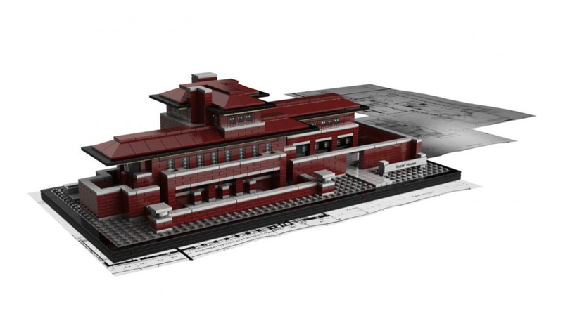 Frank Lloyd Wright's Robie House, Legoized