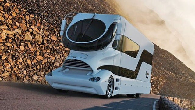 Because nothing says you're wealthy like the world's ugliest RV