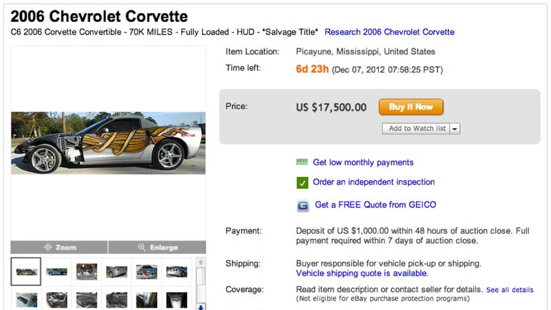 Someone Spent Loads Of Money Making This Corvette Ugly, Then Crashed It