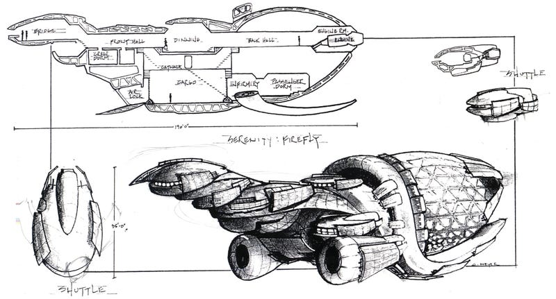 Your First Look At Firefly's Original Ship Designs