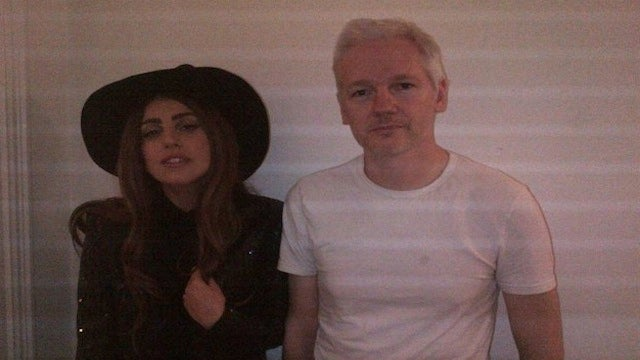 Lady Gaga Visited Julian Assange in the Ecuadorian Embassy