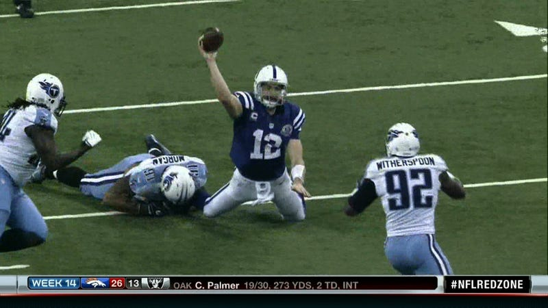 Even After Booth Review, Officials Yesterday Botched This Down By Contact Call Against Andrew Luck
