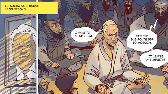 Pow! Zam! Nyet! Superputin battles terrorists, protesters in online comic