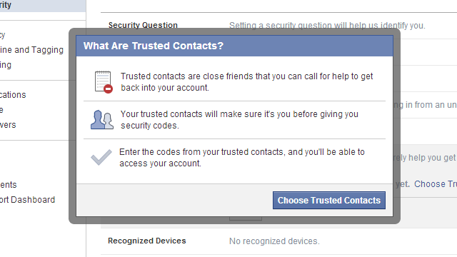 Facebook's Trusted Contacts Sends Password Reset Codes to Your Friends