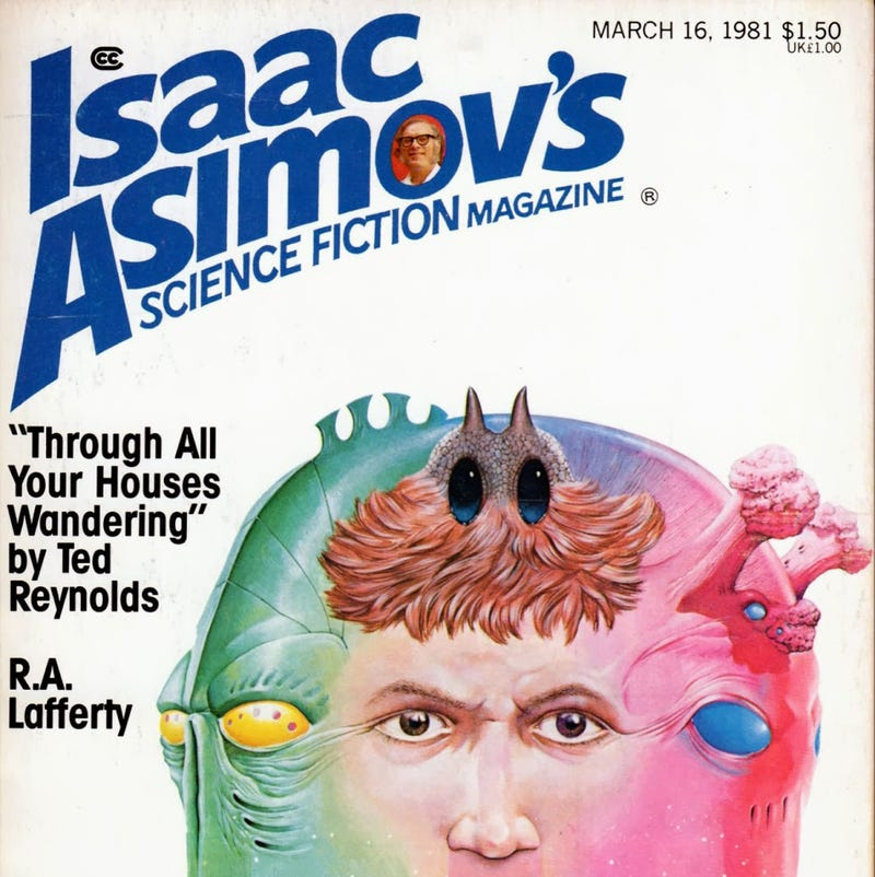 How much was Isaac Asimov involved in Asimov's Magazine?