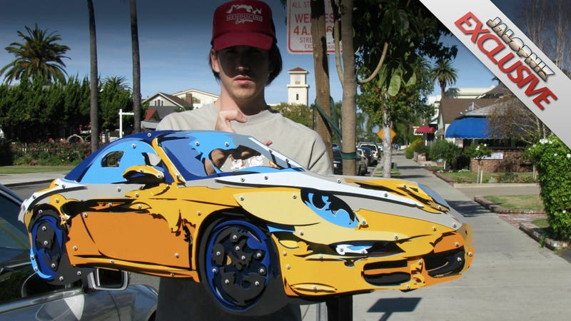 How I turned a car photo into this 18-layer aluminum art