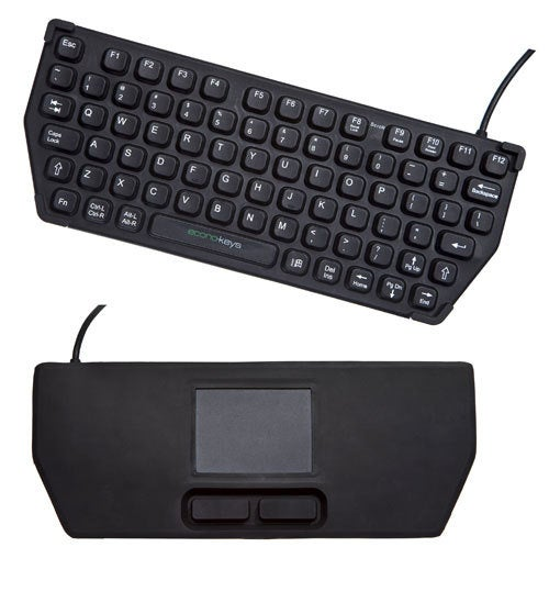 Reversible Econo-keys Keyboard Features Keys and Trackpad On Opposite Sides