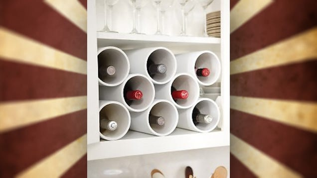 Turn Pvc Pipe Into A Fit Anywhere Wine Rack