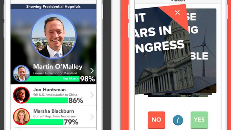 Voter Is Like a Dating App for Finding the Right Political Candidate