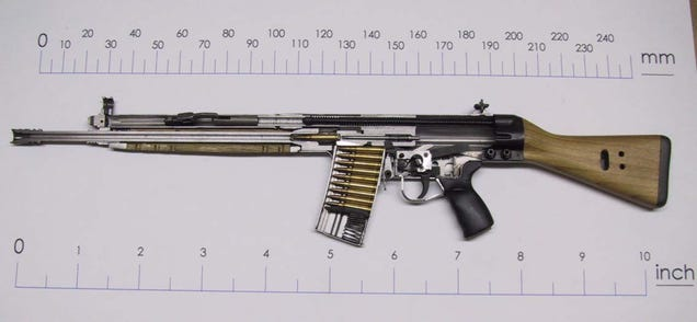 Cool photos of iconic weapons cut in half