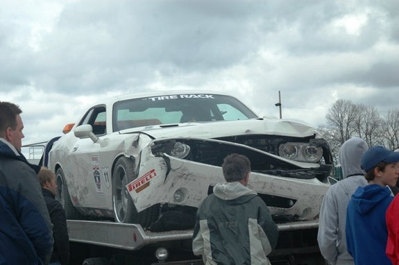 Vanishing Point Dodge Challenger Wrecked On One Lap Of America