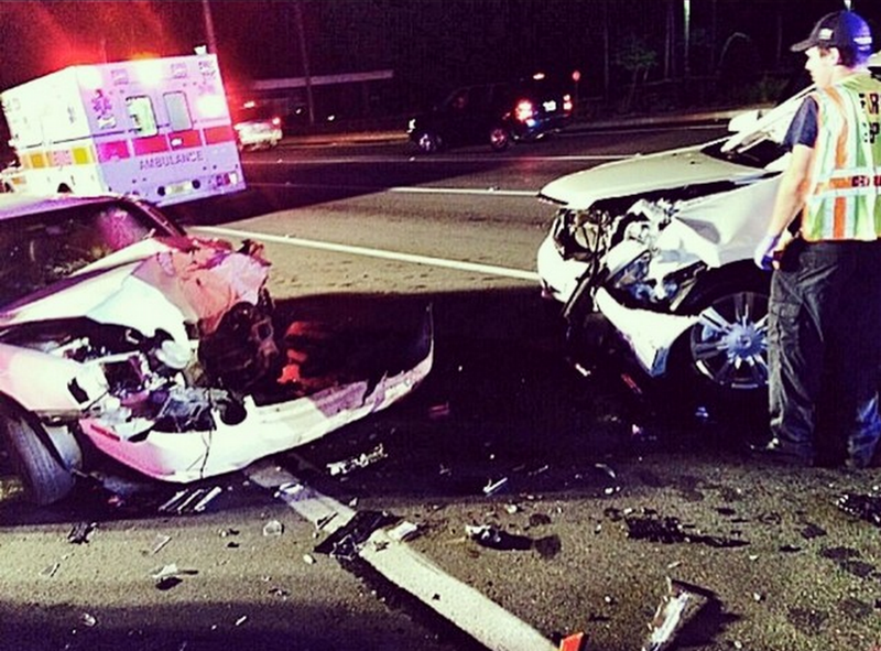 The Rock Shares Sobering Photo of the Car Accident His Mother Survived