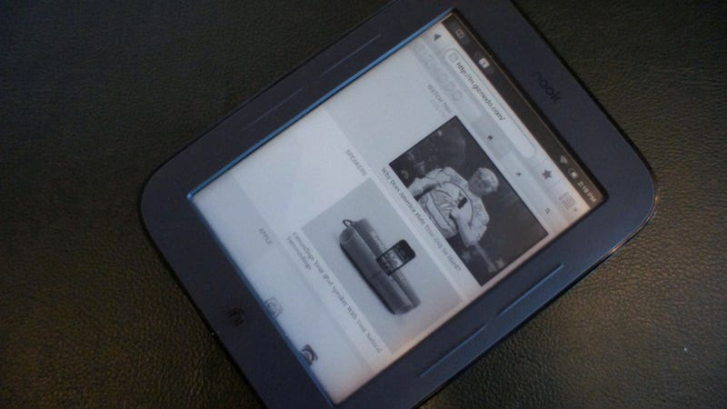 Web Browser Found Hiding Inside the Simple Touch Nook