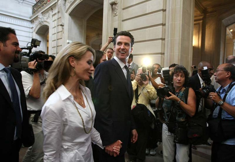 San Francisco's First Lady Pregnant with Gavin Newsom's Campaign Prop